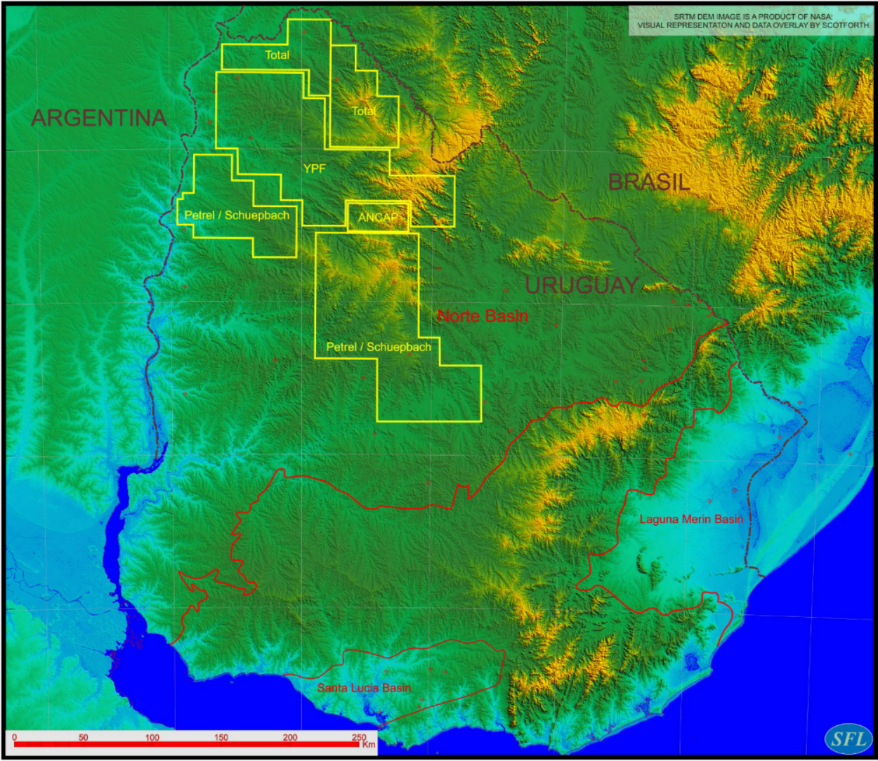 URUGUAY: Oil and Gas in the Norte Basin?